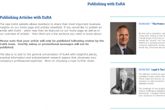 publishing with EuRA